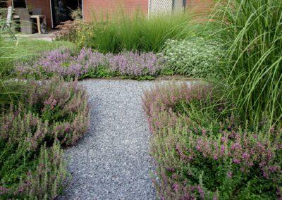 Tuin met veel kleur gedurende alle seizoenen